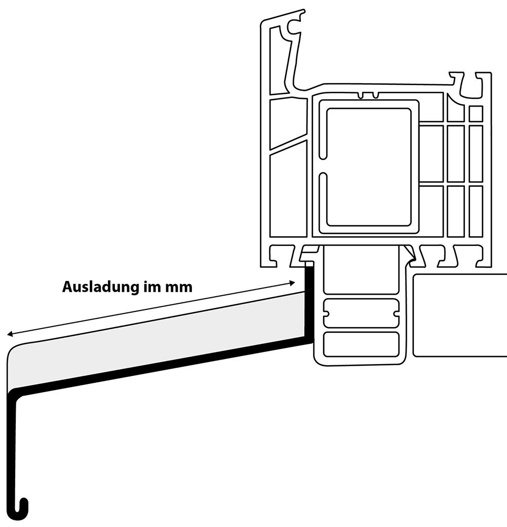 Fensterbank-Ausladung